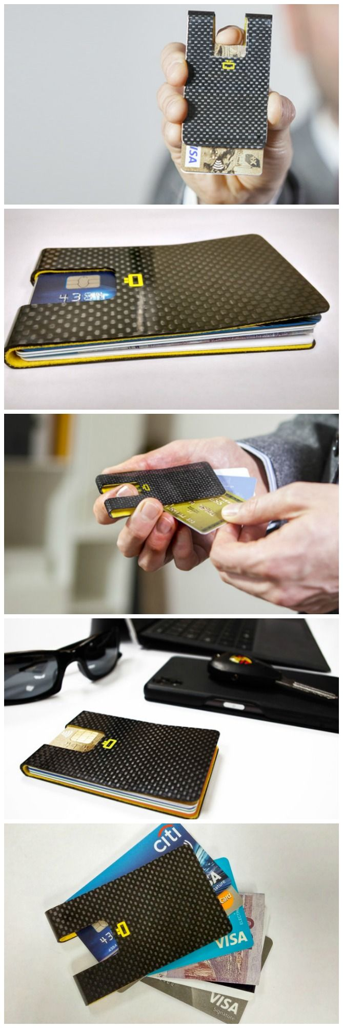 3C Smart Wallet by Ögon Designs - Free Your Pocket with the slimmest wallet ever. Durable luxury carbon fiber, RFID safe.