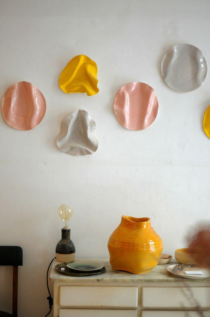 ceramic lamp at Caulino Ceramic, studio near Alfama neighbourhood - via frolic-blog.com