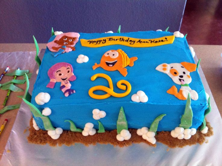 Bubble Guppies: Cakes Ideas, Guppies Parties, Bubble Guppies, Bubbles Guppies Cakes, Bubbles Guppies Birthday, Parties Ideas, 2Nd Birthday, Birthday Cakes, Birthday Ideas