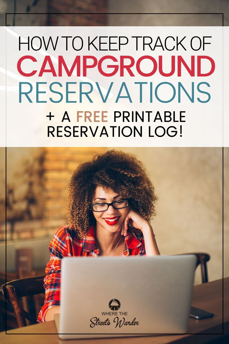 Making campground reservations is an important part of RVing. Use this printable Campground Reservation Log to organize your travel #RVLiving #RVLifestyle #RVCamping via @streetswander
