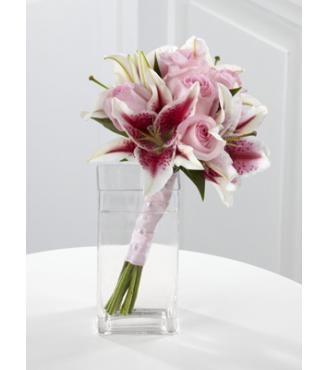 Stargazer Lily Bouquet for bridesmaids ///////.  Vietnamese / English wedding invitation @ www.ThiepCuoiCali.com.   /////////
