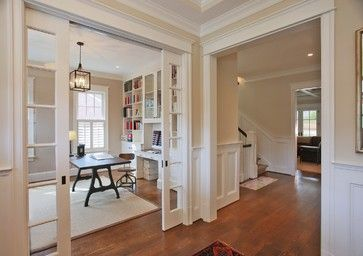 Office With Pocket French Doors Design Ideas, Pictures, Remodel, and Decor