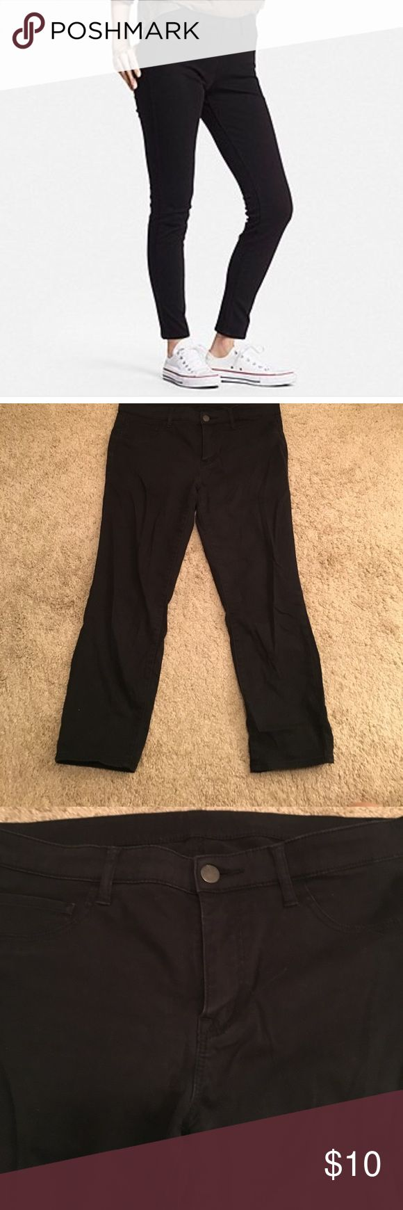 Uniqlo cotton stretch ankle pants. Black. Great condition black ankle pants from Uniqlo. Size 29. Inseam in 23 inches measured from crotch of pants. Very soft. They don't make them anymore. 74%cotton, 33% rayon and 3% spandex Uniqlo Pants Ankle & Cropped