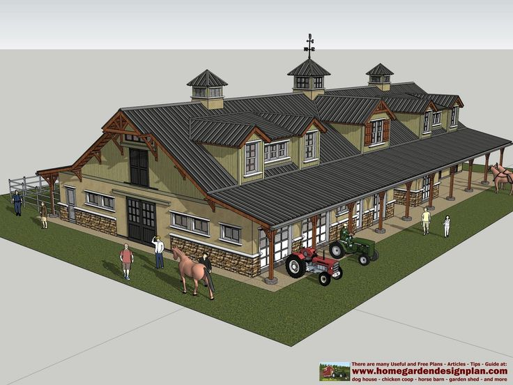 HB100   Horse Barn Plans   Horse Barn Design ... Principles Of Design: