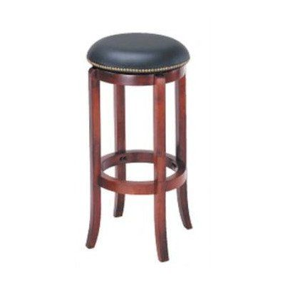 Adf 29 Inch Swivel Bar Stool With Nailhead Trim Cherry Heightcounter Height Stoolswood
