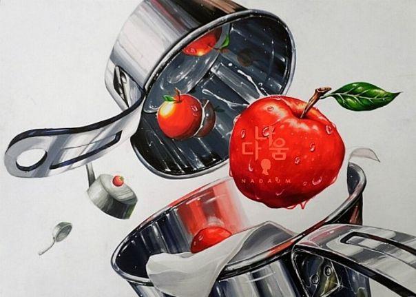 계량컵,사과