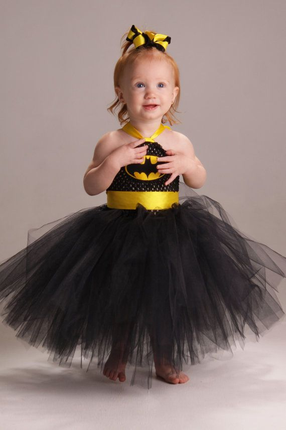 Batman super hero tutu dress with matching by Fancythatcreation, $30.00