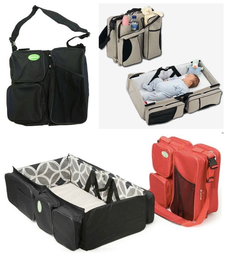 6 More Genius Baby Products convertible diaper bag/ bassinet... We love anything that has multiple uses!