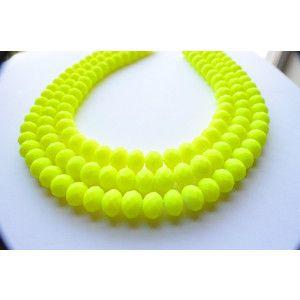The Jennifer- Neon Yellow Matte Chunky Necklace
