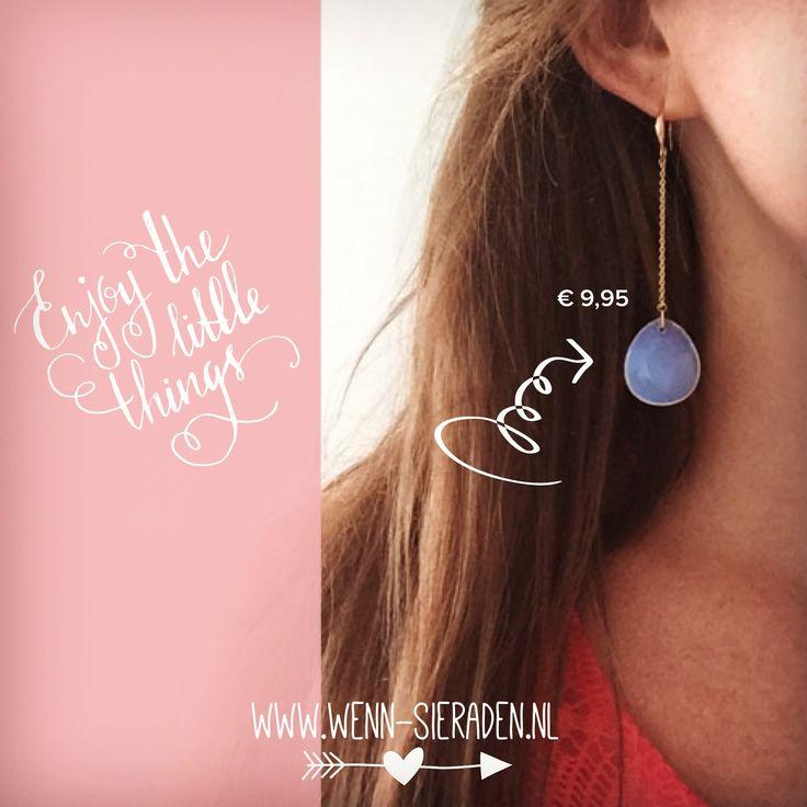 Shop deze leuke oorbellen voor € 9,95 op www.wenn-sieraden.nl