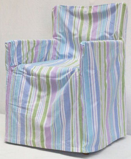 Pastel Stripe Chair Cover
