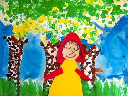 """From exhibit """"Little Red Riding Hood meets George Seurat"""" by Ivan592"""