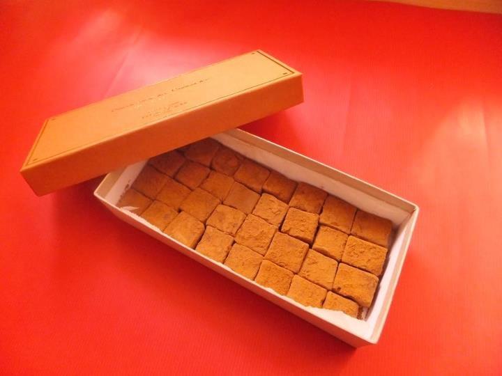 ☆玄米生チョコ☆チョコレート+玄米コーヒー+豆乳で作った生チョコに「お気軽玄米」をたっぷりまぶした生チョコです♡