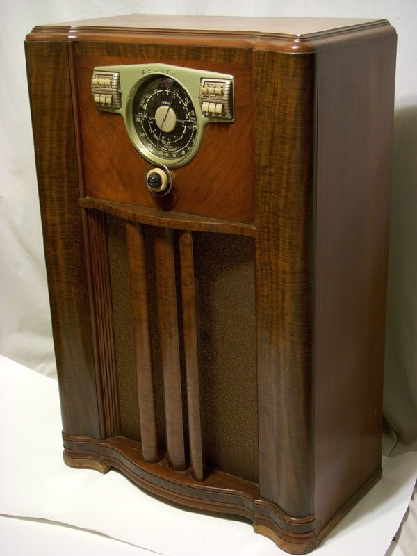 *in case you're wondering it's a radio/ ours was a Farnsworth and sat in the living room when I grew up but all I remember is static.