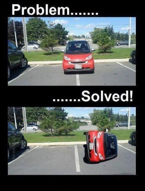 make me laugh. Car tipping at its finest :)