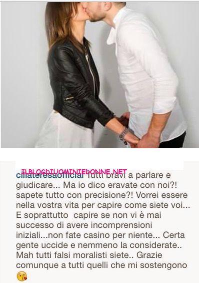 La tronista Teresa Cilia  si sfoga nella sua pagina facebook per le troppe eccessive critiche ricevute