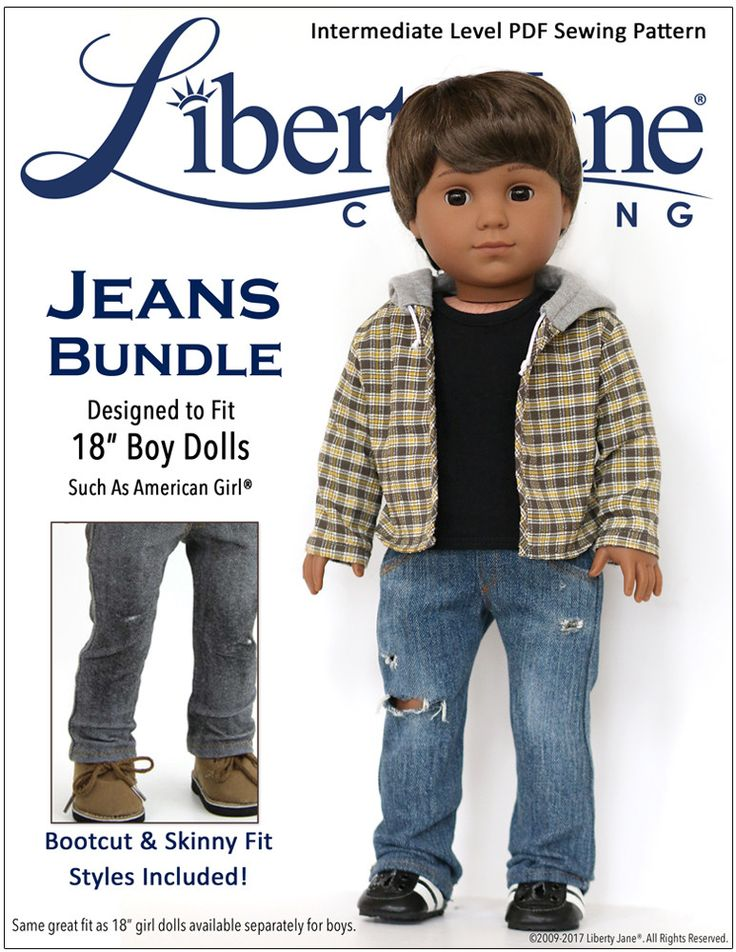 Liberty Jane Jeans For Logan 18 Inch Boy Doll