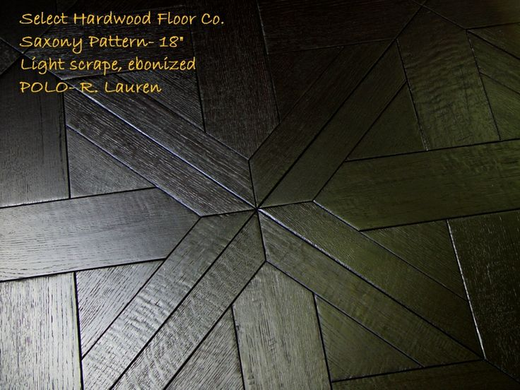 ebonized wood floors
