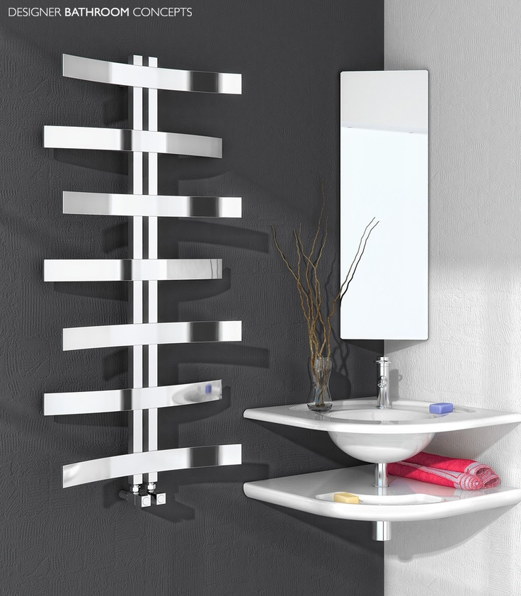Reina Lioni Chrome Designer Towel Rail 1200
