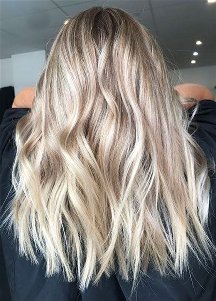40 Long Wave Gold Hairs Trend In 2019 Wellen Haare Frisur