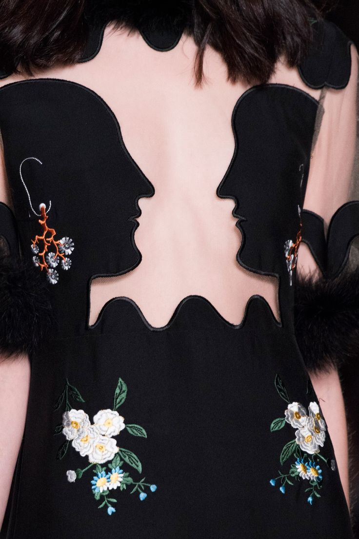 cut profile silhouettes into fabric - from Vivetta | Fall 2016 Details | The Impression