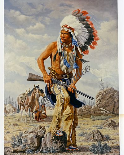 Low Dog, Fomous Indian Sioux War Chief by Joe Grandee kp