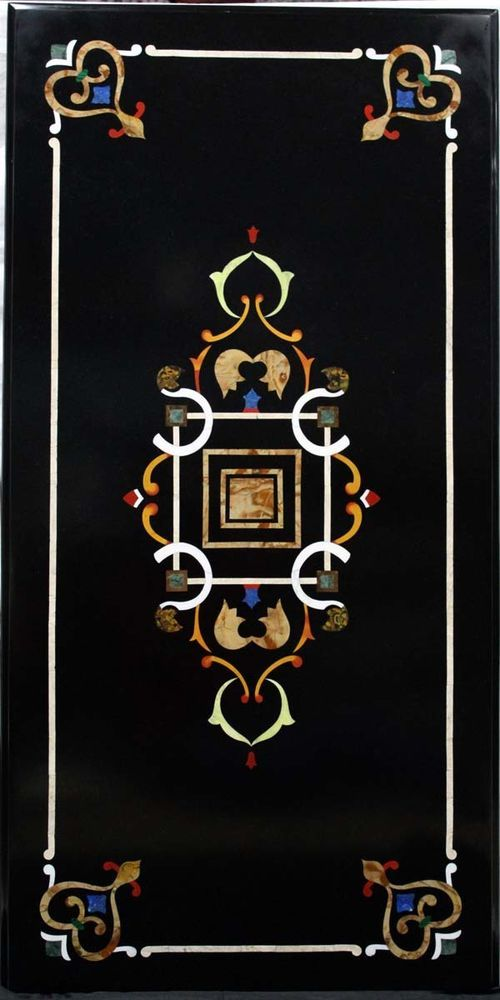 Rectangle Coffee Table Italian Florence Pietra Dura Marble inlaid Ancient Table #Pachikari #PietraDura