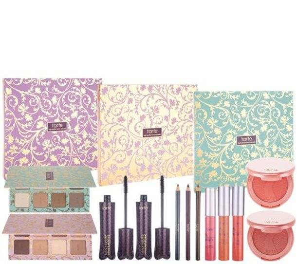 Tarte Sweet Indulgences 3 in 1 Holiday 2014 - I sure don't feel one needs ALL of the sets as the shadows seem variations of each other (neutrals) but QVC sure has a good set with a bit of everything - perfect for someone new to the product