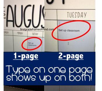 EDITABLE Calendar 2020 - 2021   Editable calendar ...