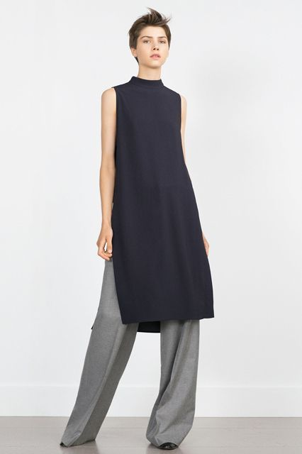 """35 Fall Essentials Hollywood's Top Stylists Are Obsessing Over #refinery29  http://www.refinery29.com/hollywood-stylist-fall-fashion-picks#slide-2  """"We saw the tunic dress make its way back for spring, but it's definitely going to stick around for fall because it's so effortless. I love to see it paired with a wide-leg pant and chunky heel."""" ..."""