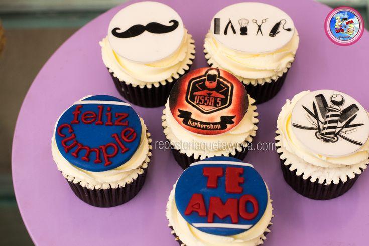 Barber cupcakes - cupcakes barbero