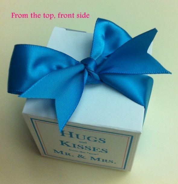 100 personalized favor boxes for under $20! ...Link to Template Works Now... :  wedding blue brown candy cheap diy easy favors gifts inspiration pink reception silver teal white Favor Pic 2   Final