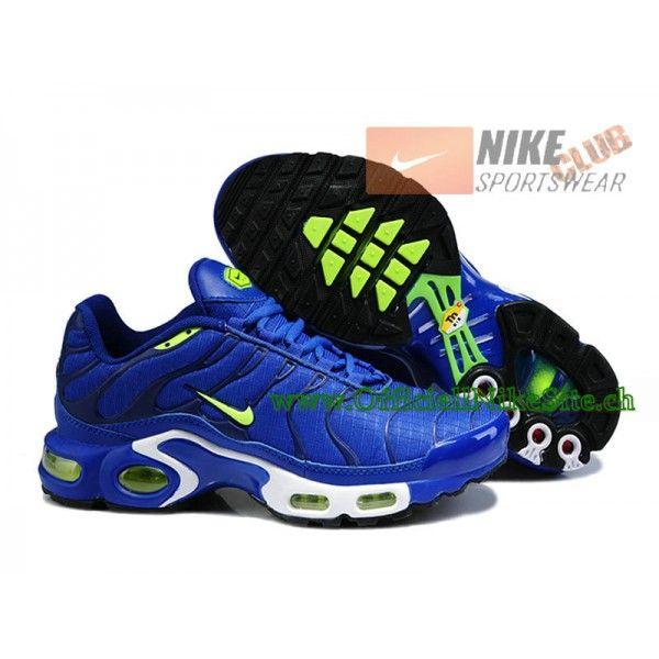 Nike Air Max Tn RequinTuned 2014 Chaussures Nike Officiel Pour Homme BleuVert