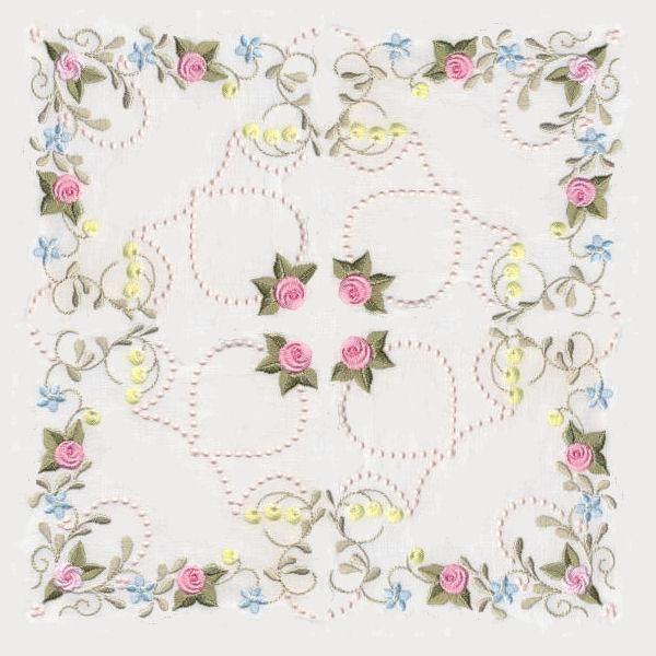 Antique Pearly Rose Quilt