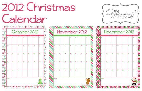 2012 Christmas Calendars