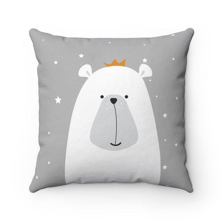 Bear Throw Pillow Animal Decorfor Kids Room Nursery Playroom