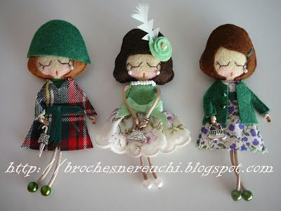 BROCHES NEREUCHI: Brooches dolls