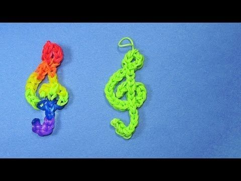 Rainbow Loom Charms: TREBLE CLEF (Music Note) Design – DIY Mommy - Rainbow Loom Fans