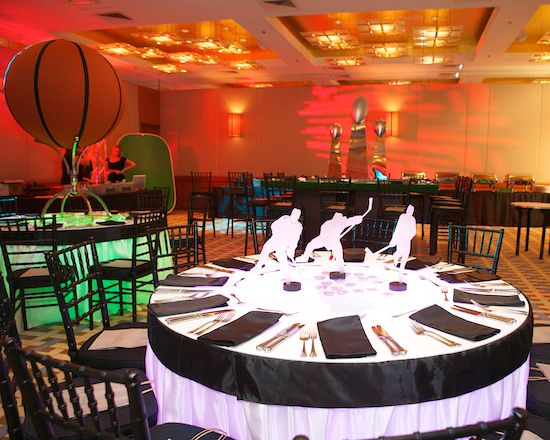 72 best bar mitzvah centerpiece images on pinterest candy stations hockey bar mitzvah silhouettes could be used in a skyline format for kids table junglespirit Images