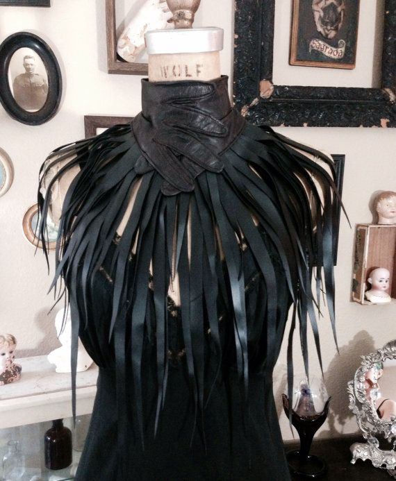 New Moon Witchcraft Leather Glove Choker by Louise by louiseblack