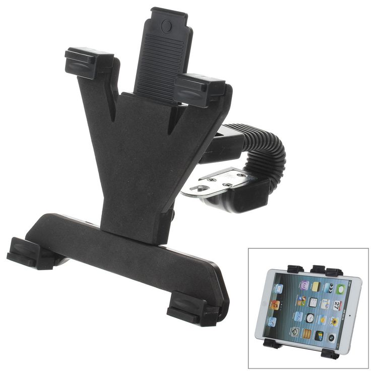 M08 360 Degree Rotation Scooter Bracket C60 Back Clamp for 7-10 Inch Tablet PC - Black