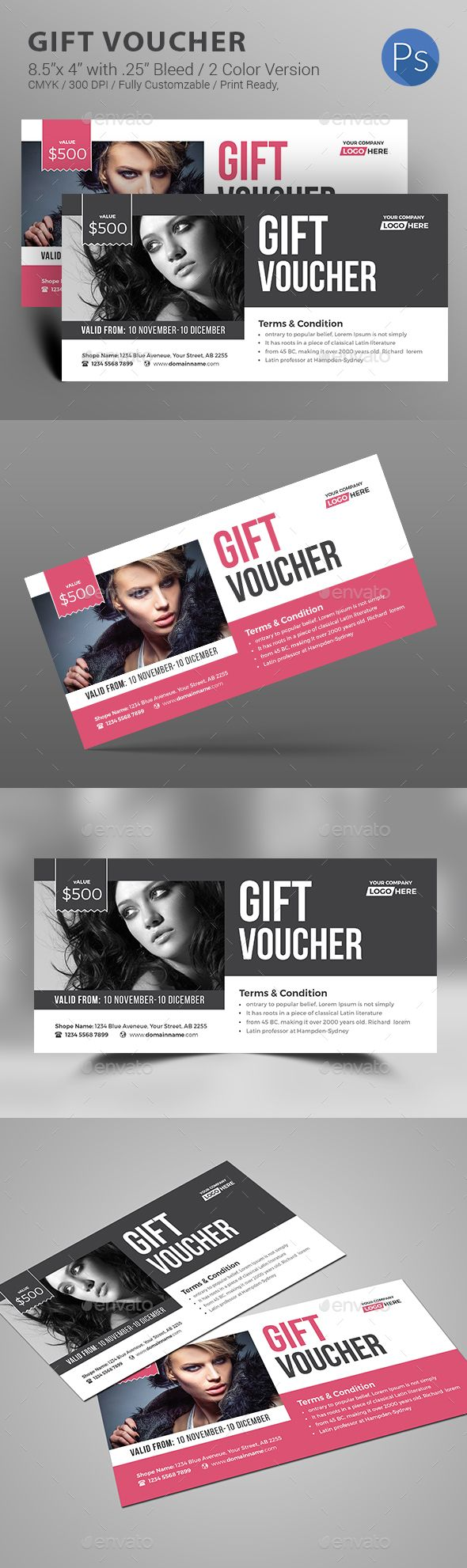 Gift Voucher — Photoshop PSD #beauty card #event • Download ➝ https://graphicriver.net/item/gift-voucher/18792121?ref=pxcr