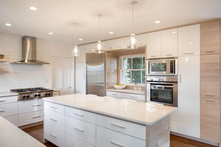 Design By Vanillawood Modern Contemporary Kitchen White Wood Island Bar Painting Kitchen Cabinets Kitchen Design Kitchen Paint