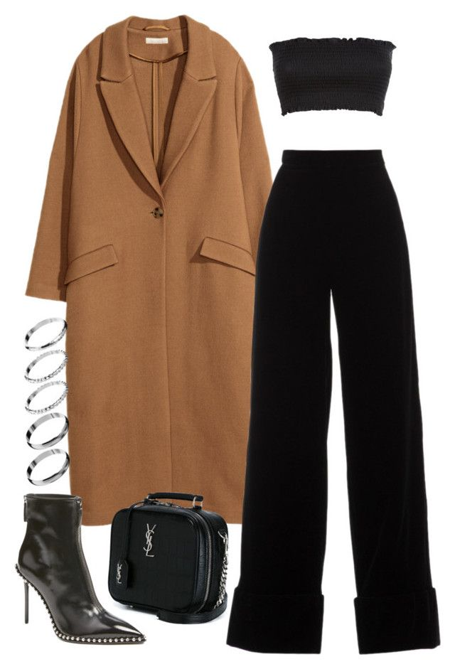"""""""Untitled #2619"""" by mariie0h ❤ liked on Polyvore featuring H&M, Djaba Diassamidze, Alexander Wang, Yves Saint Laurent and ASOS"""