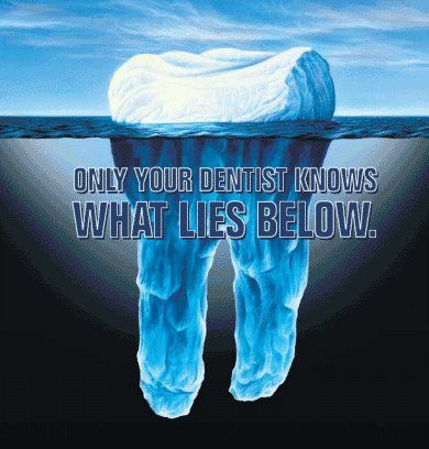 Only your dentist knows what lies below. Peachland Dental Centre Peachland 250-767-6411