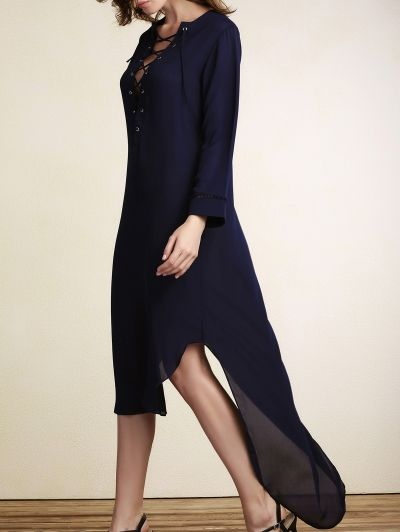 SHARE & Get it FREE | Lace-Up Irregular Hem Maxi DressFor Fashion Lovers only:80,000+ Items • New Arrivals Daily Join Zaful: Get YOUR $50 NOW!