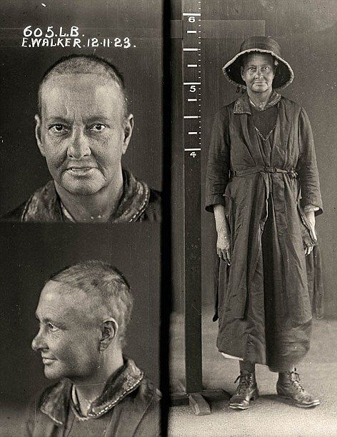 """E. Walker who was believed to be a vagrant from her scruffy appearance""   ~ 'Mugshots of women prisoners from 1920s Australia   ~ http://www.dailymail.co.uk/news/article-2103393/Womens-mug-shots-1920s-Australia.html"