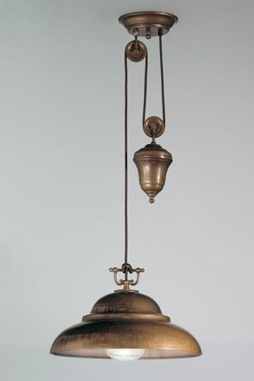 Not entirely clear on how necessary a pulley lamp is, but it's certainly pretty.