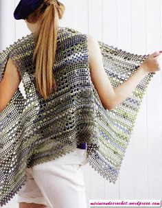 """loads!"" of crochet ""vesty"" free pattern diagrams and info"