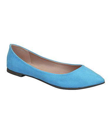 This Blue Tammy Ballet Flat is perfect! #zulilyfinds